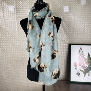 Pug Printed Scarf - Pug Lovers Must Have